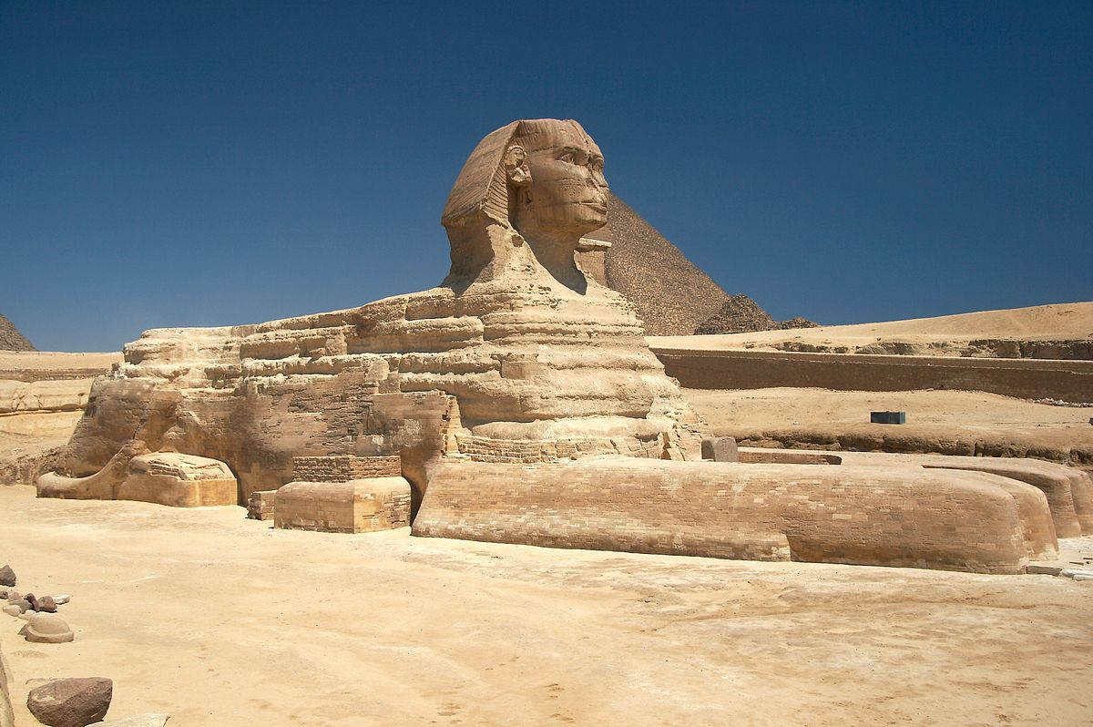 """Great Sphinx of Giza - 20080716a"" by Taken by the uploader, w:es:Usuario:Barcex - Taken by the uploader, w:es:Usuario:Barcex. Licensed under CC BY-SA 3.0 via Wikimedia Commons - http://commons.wikimedia.org/wiki/File:Great_Sphinx_of_Giza_-_20080716a.jpg#mediaviewer/File:Great_Sphinx_of_Giza_-_20080716a.jpg"