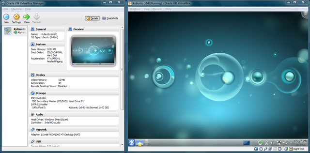 """VirtualBox screenshot"" by Kubuntu 11.04: Canonical Ltd.VirtualBox 4.1.8: Oracle CorporationWindows 7: Microsoft CorporationThis screenshot: FleetCommand (talk · contribs) - This screenshot is taken and uploaded by FleetCommand (talk · contribs). Licensed under GPL via Wikimedia Commons - http://commons.wikimedia.org/wiki/File:VirtualBox_screenshot.png#mediaviewer/File:VirtualBox_screenshot.png"