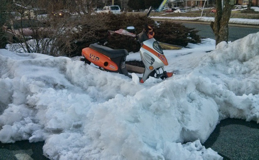 Snow Plow vs. Moped