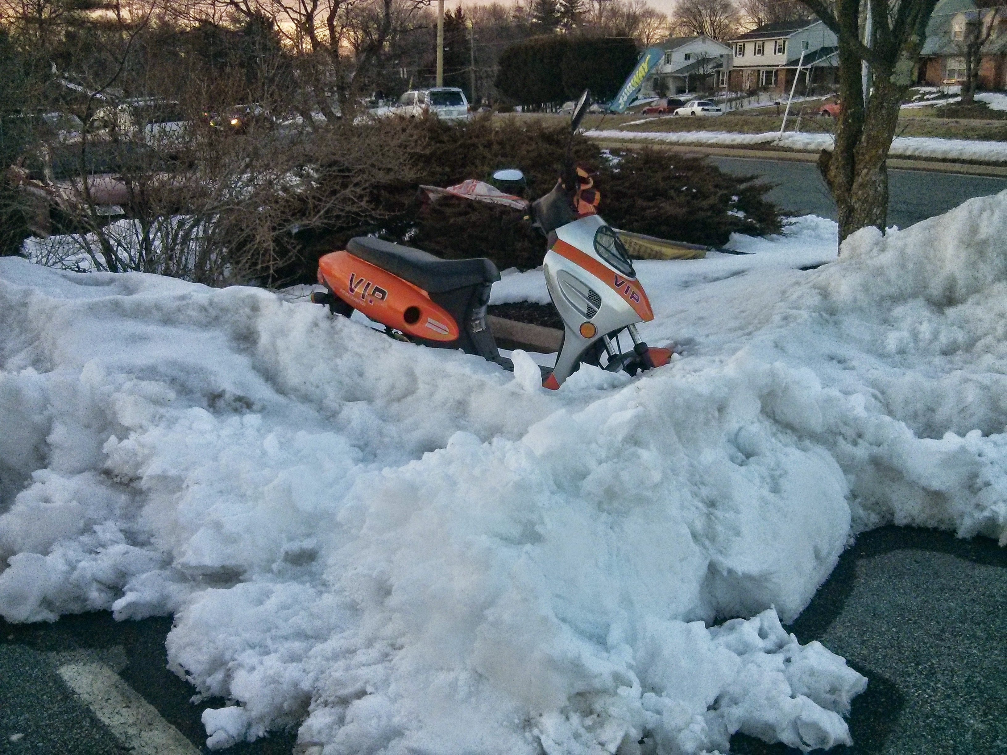 """Snow Plow vs. Moped"" © 2015 by Andrew Mills"