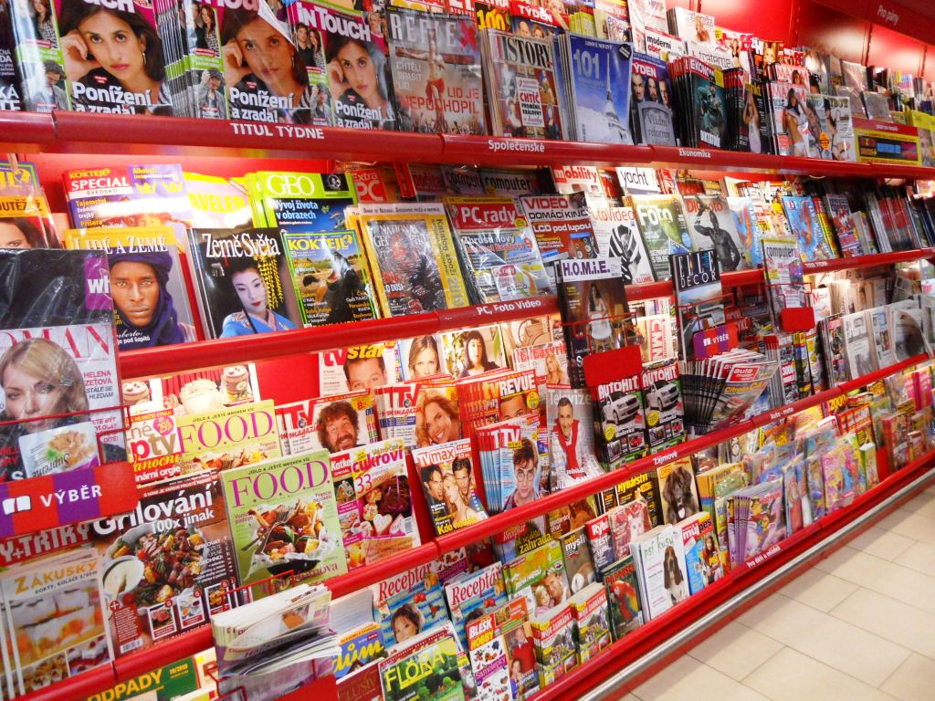 """Magazines in Prague DSCN5008"" by Sokoljan - Own work. Licensed under Public Domain via Wikimedia Commons - http://commons.wikimedia.org/wiki/File:Magazines_in_Prague_DSCN5008.JPG#mediaviewer/File:Magazines_in_Prague_DSCN5008.JPG"