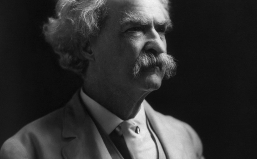 And now, a word from Mark Twain . . .