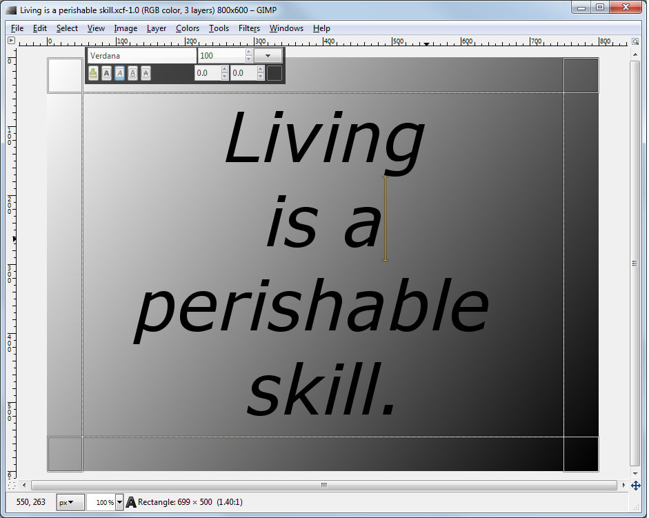 Artwork: Living_is_a_perishable_skill