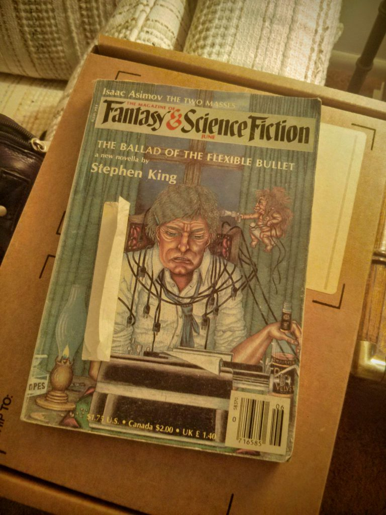 "Stephen King's ""The Ballad of the Flexible Bullet"", Fantasy & Science Fiction Magazine"