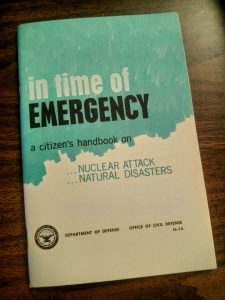 "government issued booklet entitled ""In Time Of Emergency"" from 1968"